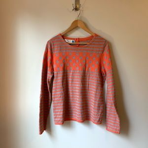Anthropologie Sparrow Striped Polka Dot Sweater